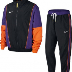 Nike Sportswear Throwback Tracksuit - Black/Field Purple/Brilliant Orange