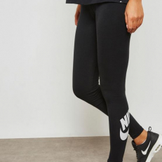 Nike Sportswear W Futura Club Leggings - Black/ White