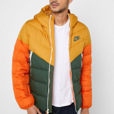 Nike Sportswear Windrunner Down-Fill Jacket - Gold Suede/ Galactic Jade/ Starfish