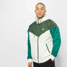 Nike Sportswear Windrunner Hooded Windbreaker - Sail/ Fir/ Mystic Green