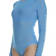Nike Sportswear Womens Bodysuit - Light Photo Blue/ White