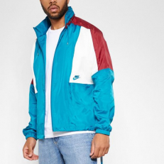 Nike Sportswear Woven Jacket - Green Abyss/ Team Red/ Sail/ Green Abyss