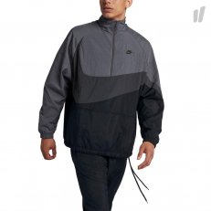 Nike Sportswear Woven Swoosh Half-Zip Jacket - Black/ Anthracite/ Dark Grey/ Anthracite