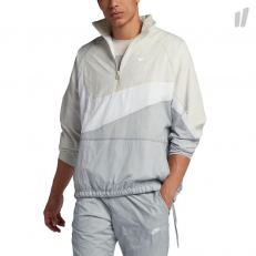 Nike Sportswear Woven Swoosh Half-Zip Jacket - Wolf Grey/ White/ Light Bone/ White