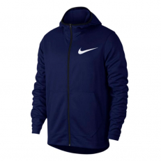 Nike Spotlight Dri-Fit Full-Zip Hoodie - Blue Void/ Pacific Blue