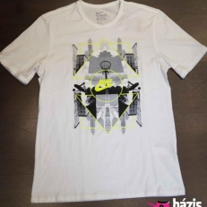 Nike T-shirt (white-black-neon)