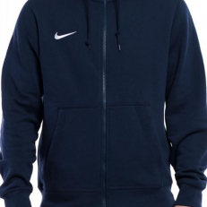 Nike Team Club Full-Zip Hoodie - Obsidian/ White