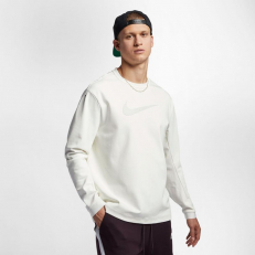 Nike Tech Pack Swoosh Crew Knit - Sail/ Light Bone/ Black