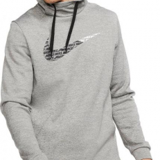 Nike Therma Fleece Pullover GFX 2.2 Hoodie - Grey Heather