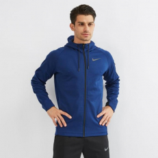 Nike Therma Sphere Full-Zip Hoodie - Blue Void/ Black