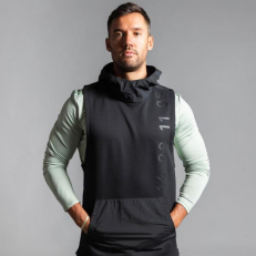 Nike Therma Tech Pack Hooded Sleeveless Training Top - Black
