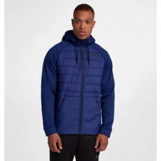 Nike Therma Winterized Full-Zip Hoodie - Blue Void/Black