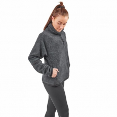 Nike Therma Womens Long-Sleeve Fleece Training Top - Black/ Heather/ Black/ Black