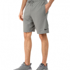 Nike Touch Fleece 8 Dri-Fit Training Short - Dark Grey/ Black