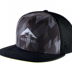 Nike Trail Aerobill Trucker Running Reflective Hat - Black