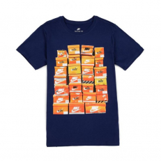 Nike Vintage Shoebox Print T-Shirt - Binary Blue