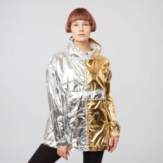 Nike W NSW Metallic Jacket (Gold / Silver)