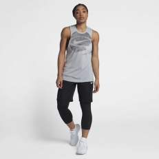 Nike Womens Dri-Fit Elite Basketball Tank Top - Wolf Grey