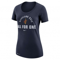 Nike Womens NBA Cleveland Cavaliers Dri-Fit T-Shirt - College Navy