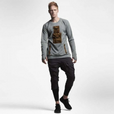 NikeLab AAE 1.0 Crew Dark Grey Heather & Hazel Rush