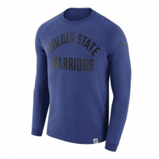 Nike NBA Golden State Warriors Modern Long-Sleeve Crew - Rush Blue/ Rush Blue