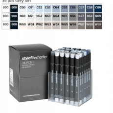 Stylefile Grey Marker Set (36 db)